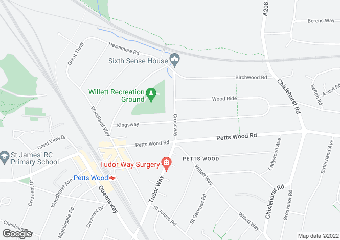Map for Crossway, Petts Wood