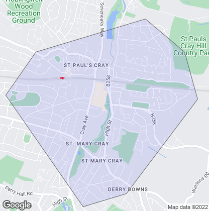 Map of property in St. Mary Cray