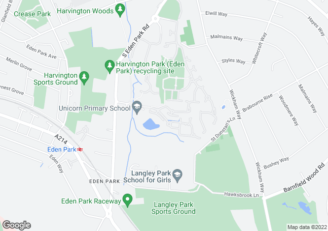 Map for Brockwell Avenue, Langley Waterside, Beckenham