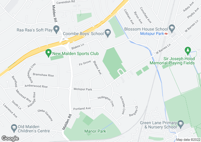Map for Blakes Avenue, New Malden