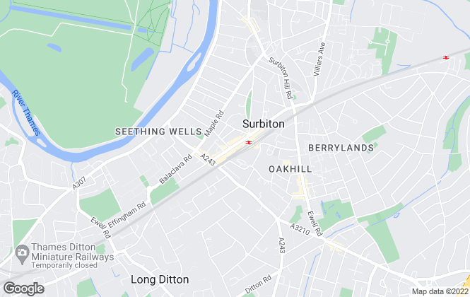 Map for Wallakers, Surbiton
