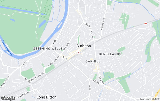 Map for Barnard Marcus, Surbiton