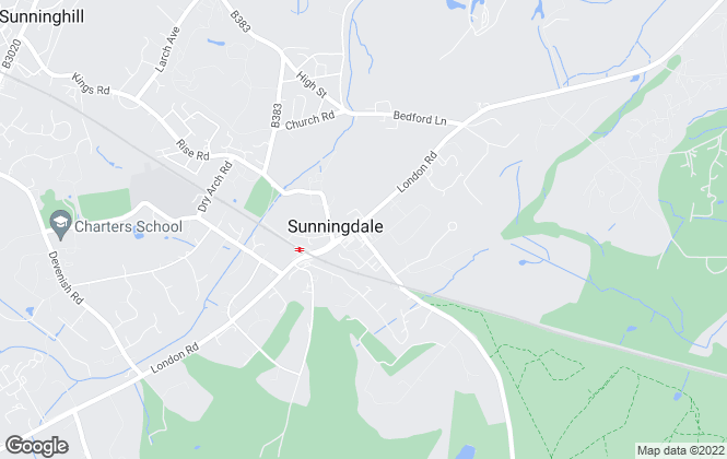 Map for Chancellors, Sunningdale