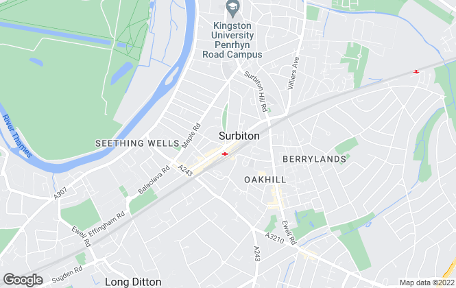 Map for Chancellors, Surbiton