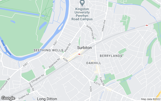 Map for Chancellors, Surbiton Lettings