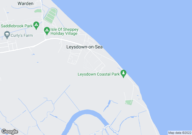Map for Shurland Avenue, Leysdown, Sheerness, Kent