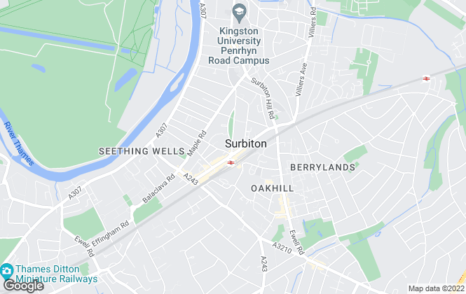 Map for Househandlers Ltd, Surbiton