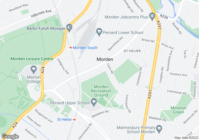 Map for 1 BED APARTMENT at The Willows @ Morden, Central Road,