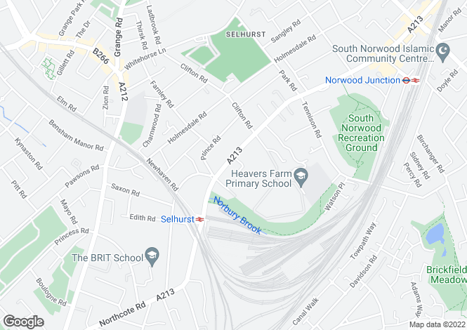Map for Flat Clifton Court, South Norwood, SE25
