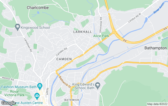 Map for Allen & Harris, Bath Larkhall