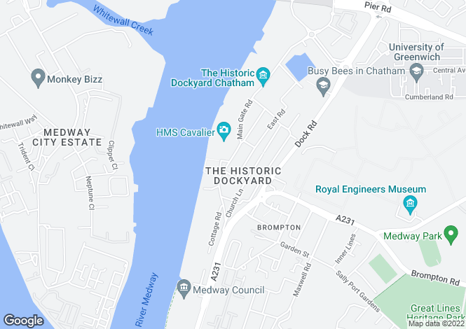 Map for The Historic Dockyard, Chatham, Kent