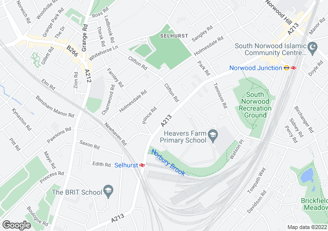 Map for Selhurst Road, London