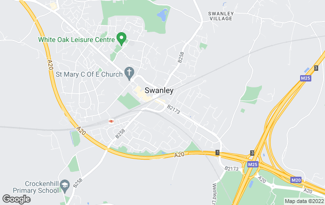 Map for Brookbanks Estate Agents, Swanley