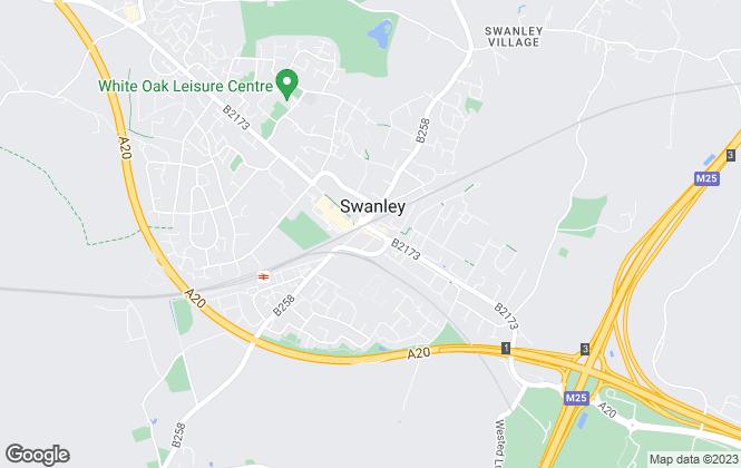 Map for Acorn, Swanley