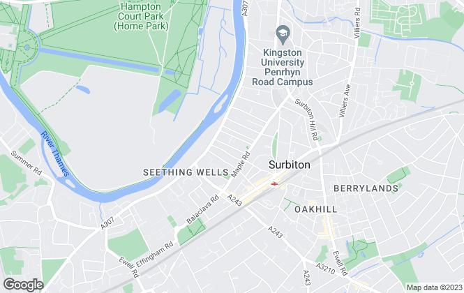 Map for Harrison Jacks, Surbiton