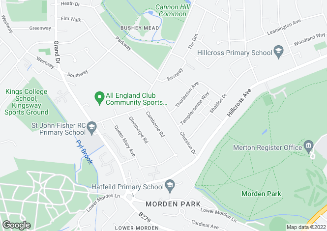 Map for Churston Drive, Morden