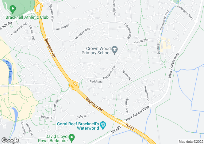 Map for Crown Row, Bracknell, Berkshire, RG12 0TH