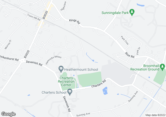Map for Charters, Sunningdale, Ascot, Berkshire, SL5