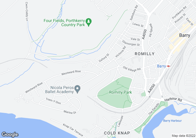 Map for Park Road, Barry, Vale Of Glamorgan, CF62 6NX