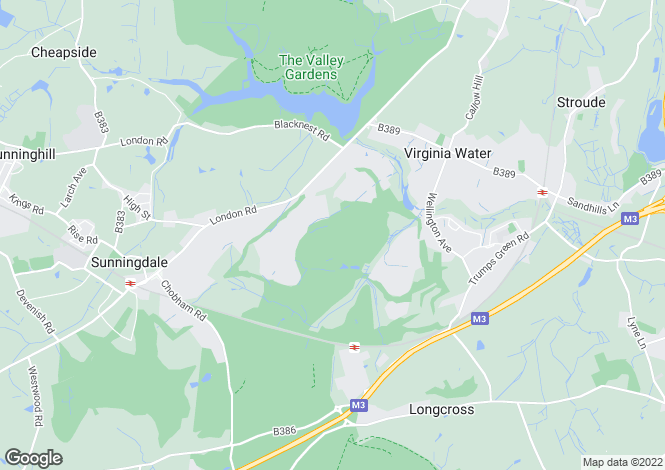 Map for Virginia Water