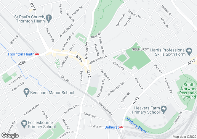 Map for South Norwood, London