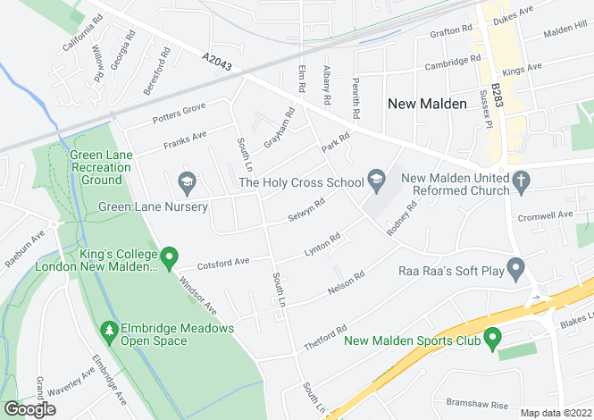 Map for New Malden