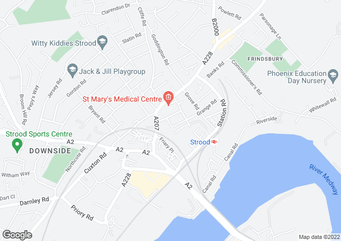 Map for St. Marys Road, Strood, Rochester ME2