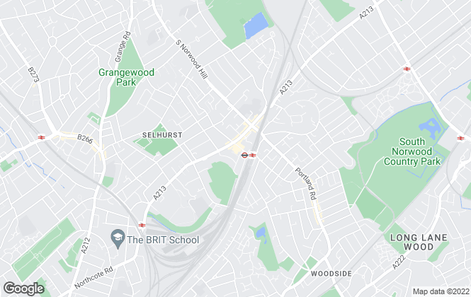 Map for Benson & Partners, South Norwood