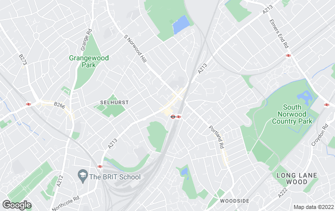 Map for Northwoods Residential, South Norwood