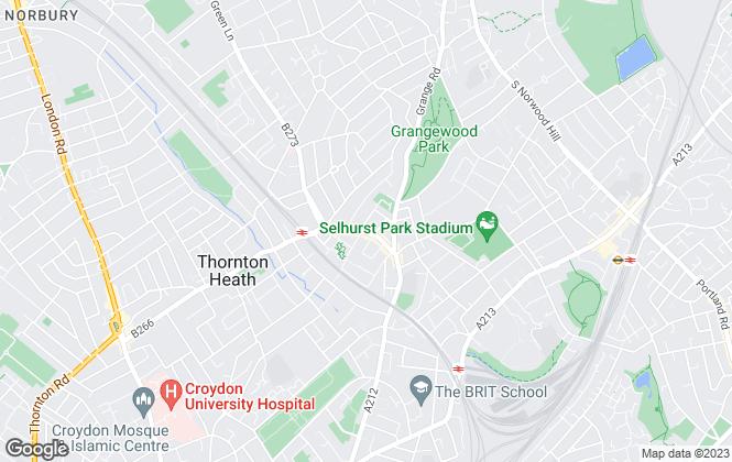 Map for Kingsbury Estate Agents, Thornton Heath