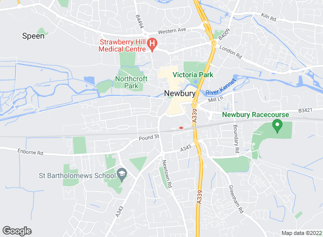 Map for Jones Robinson Estate Agents, Newbury