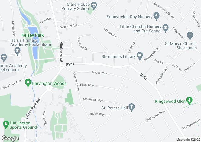 Map for Hayes Way, Beckenham, BR3