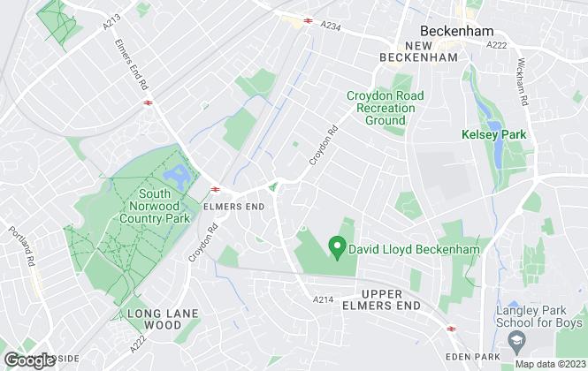 Map for Henderson Wood, Beckenham