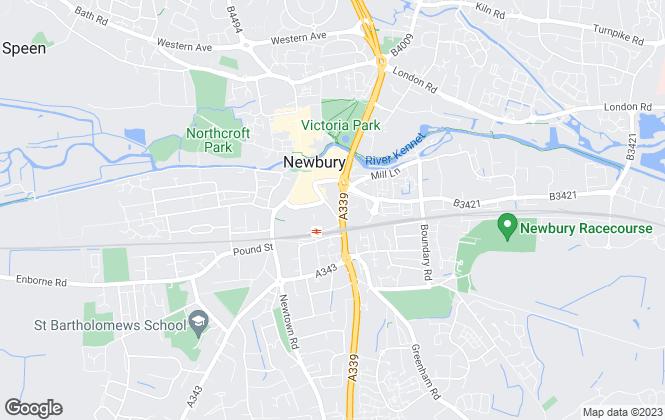 Map for Lovejoy Stevens, Newbury