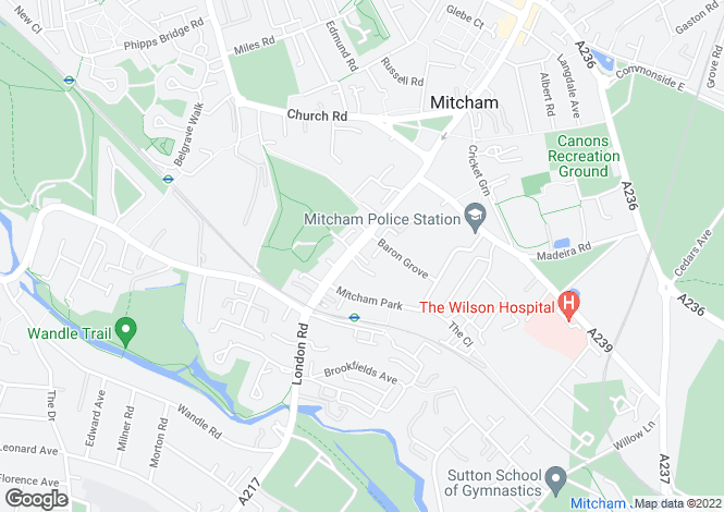 Map for London Road, Mitcham CR4