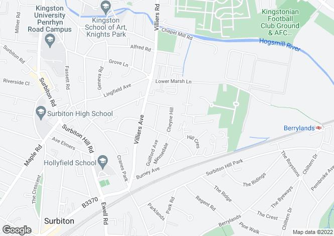 Map for Cheyne Hill Surbiton