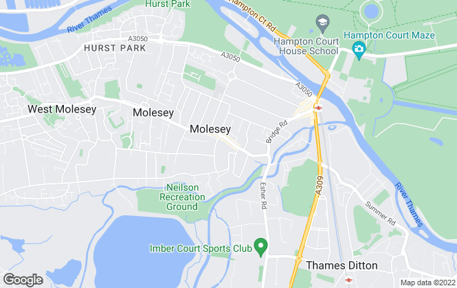 Map for Dowling Styles, East Molesey