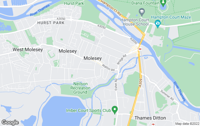 Map for Rawlinson & Webber, East Molesey