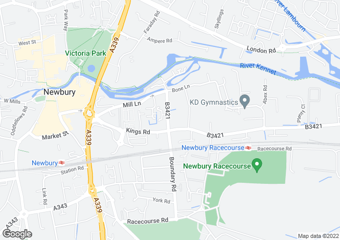 Map for Boundary Road, Newbury, Berkshire, RG14