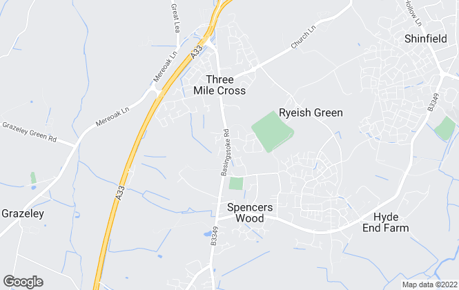 Map for Parkers Estate Agents , Spencers Wood