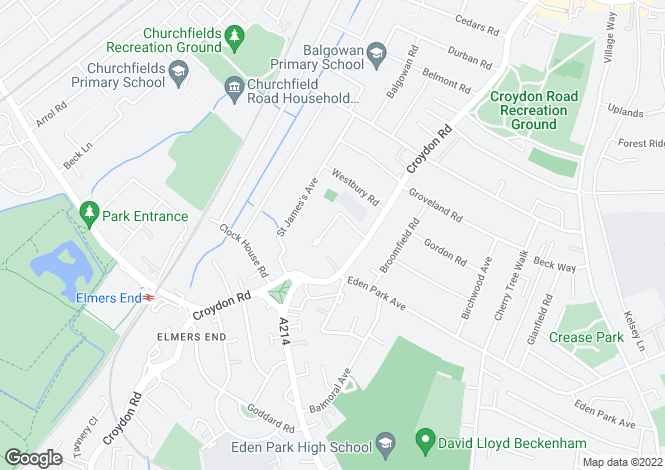 Map for Priory Close, Beckenham, BR3