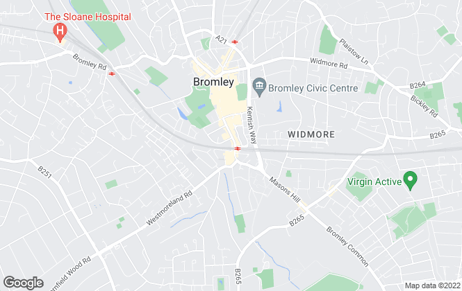 Map for Mann Lettings, Bromley