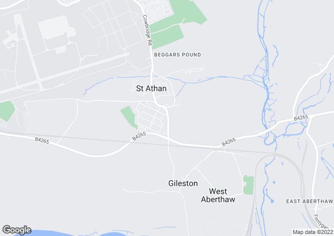 Map for Gileston Road ST ATHAN
