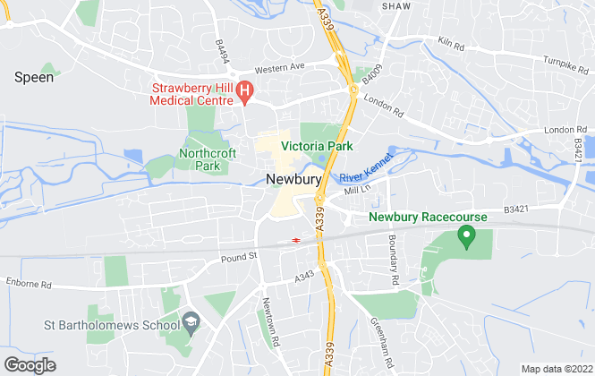 Map for Carter Jonas, Newbury - Lettings