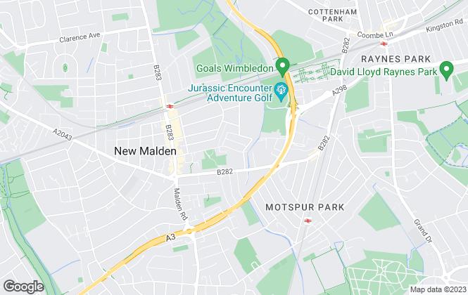 Map for FarleyWood, New Malden