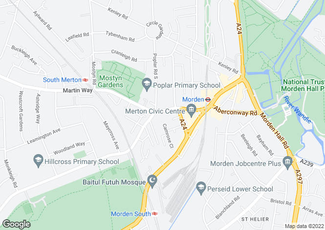 Map for Crown Lane, MORDEN, Surrey, SM4 5BY