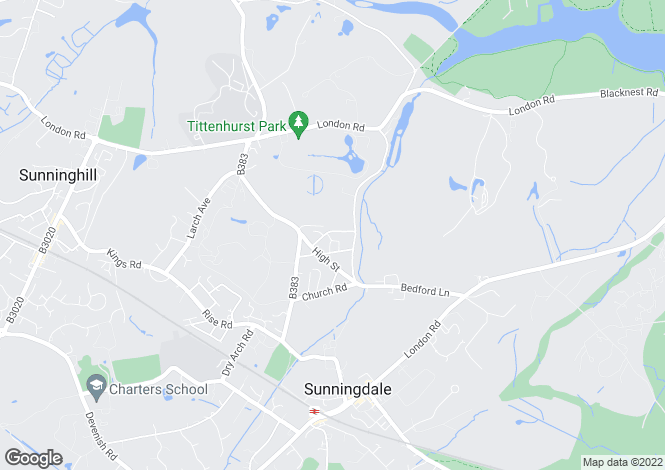 Map for Dale Lodge Road Sunningdale