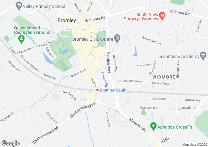 Map for 21-23 Elmfield Road, Bromley, Kent