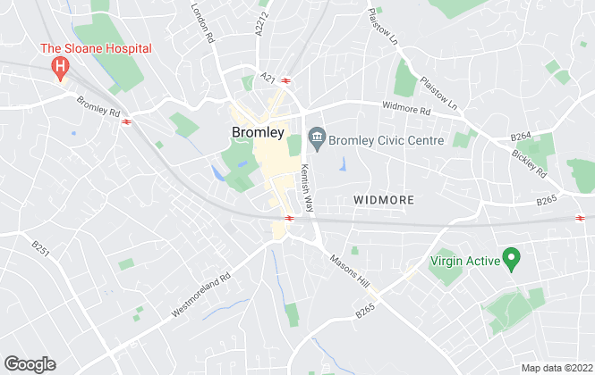 Map for Unite Property, Bromley
