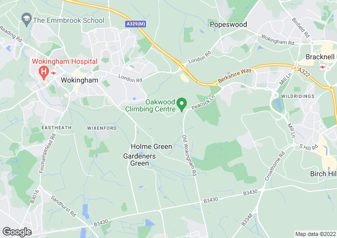Map for Waterloo Road, WOKINGHAM, Berkshire